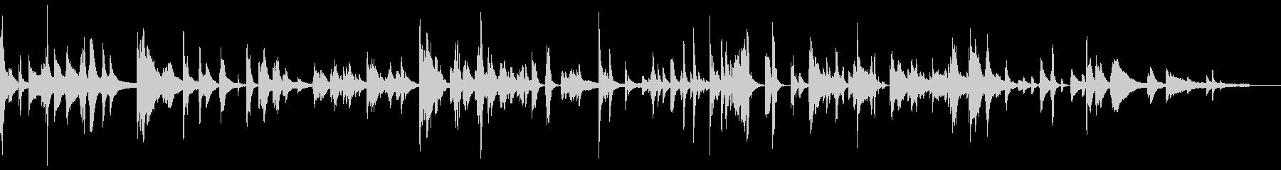 思考がはじけ飛んだカオス空間-ピアノソロの未再生の波形