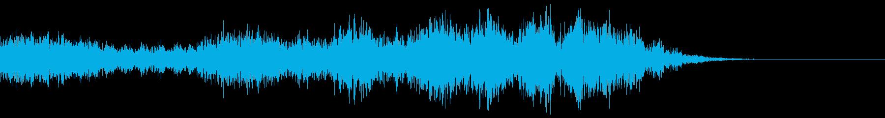 アイキャッチ サイバー 疾走感の再生済みの波形