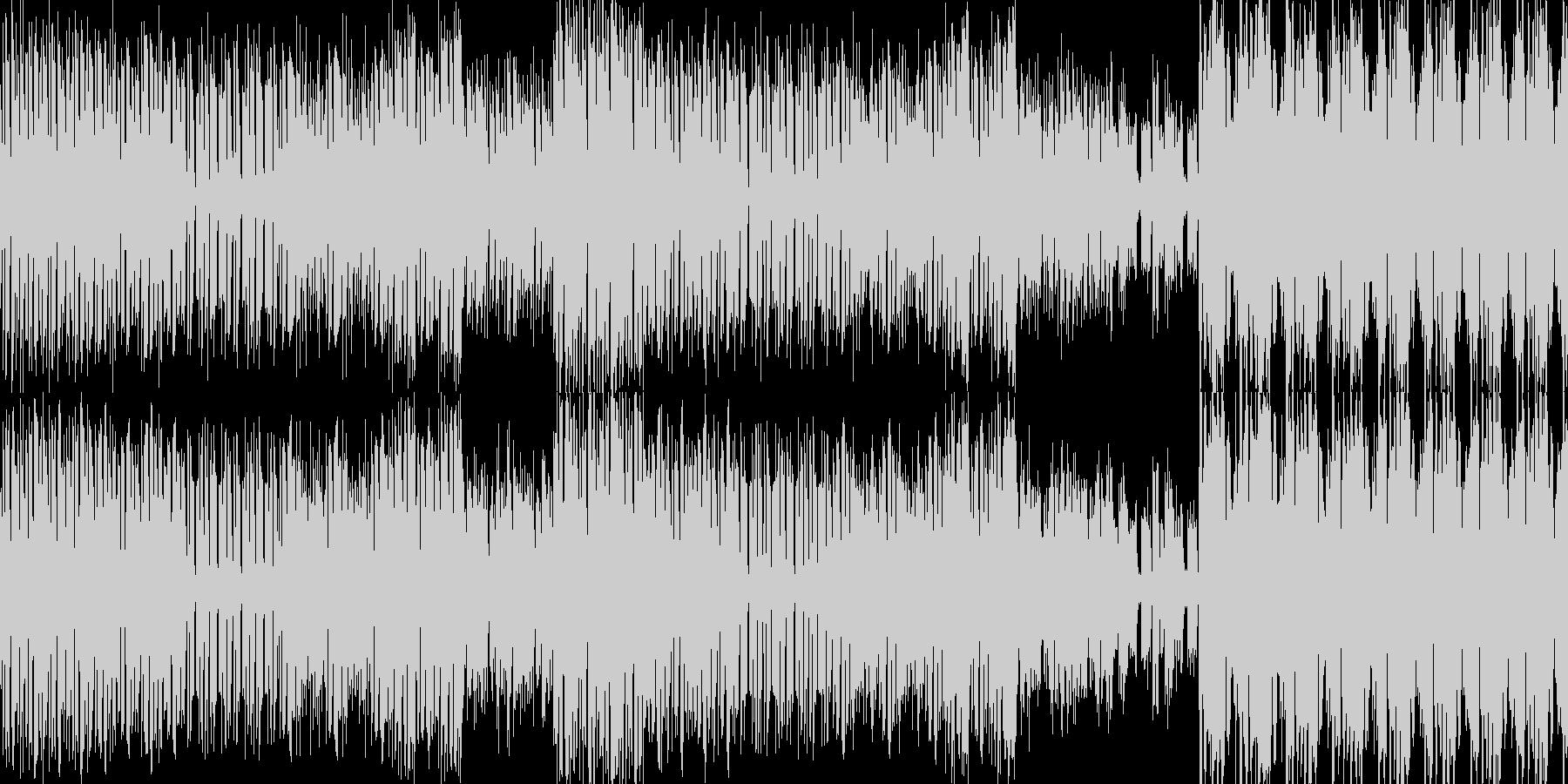 シンプルなリズムのハウスの未再生の波形