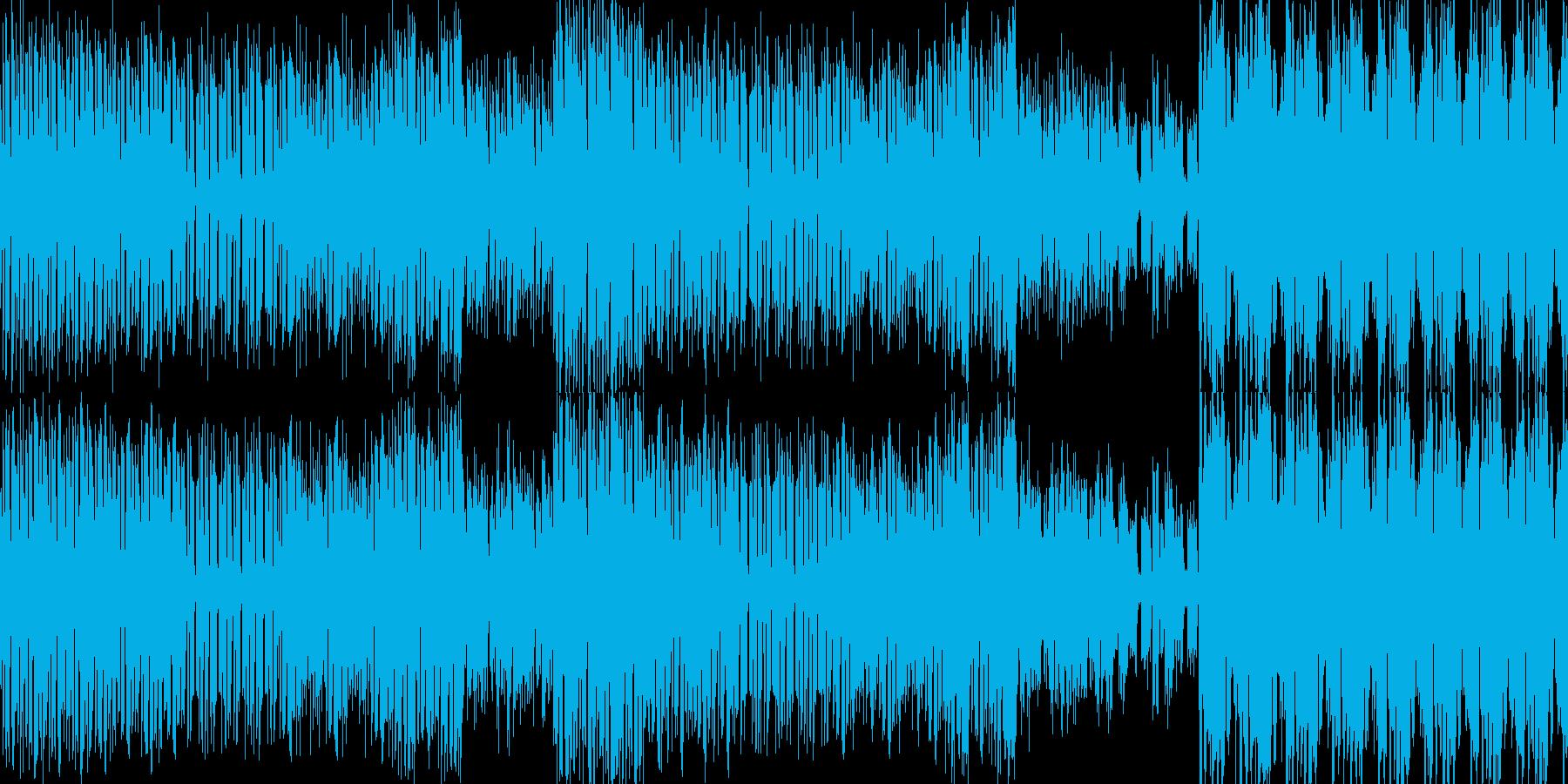シンプルなリズムのハウスの再生済みの波形