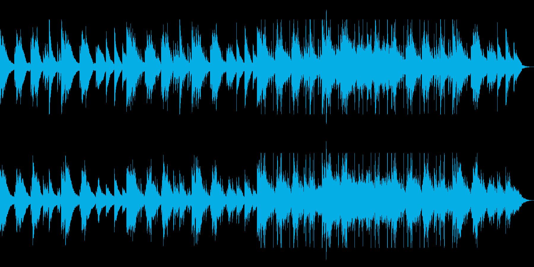 せつないピアノが奏でる落ち着きのある曲の再生済みの波形