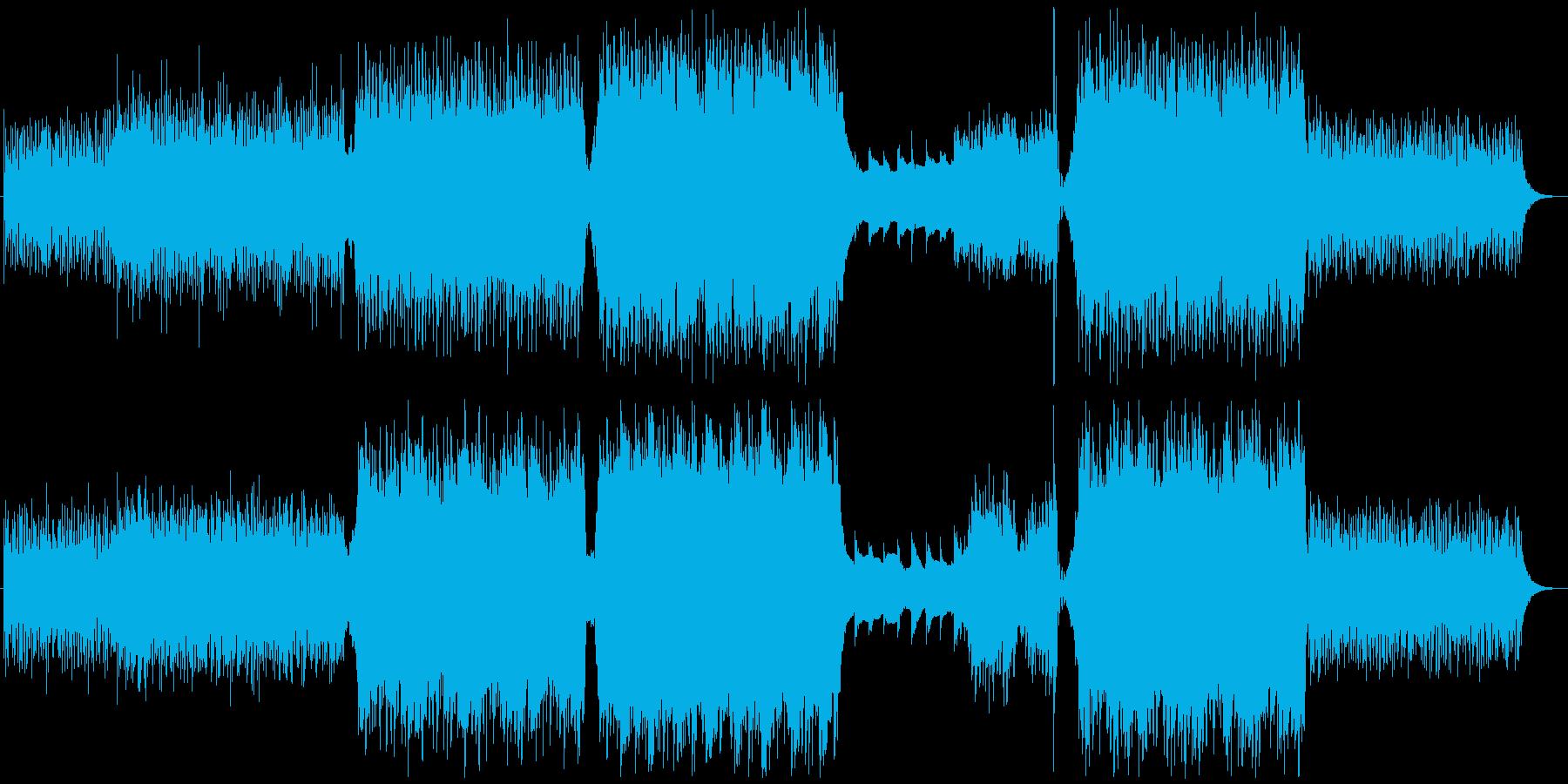 小鳥のさえずりのようなアンビエント系BGの再生済みの波形