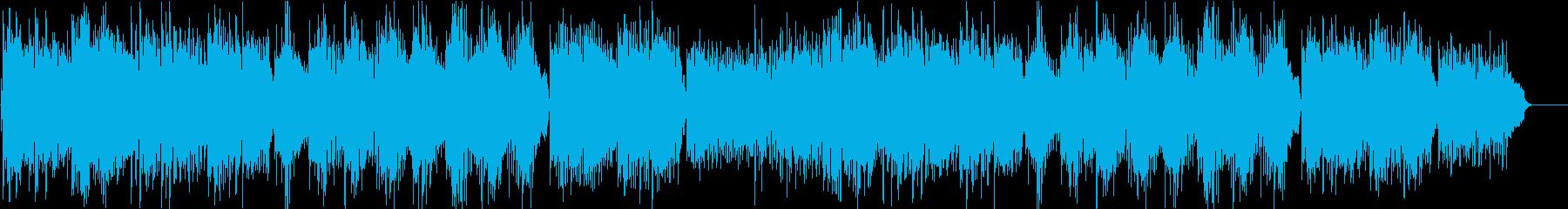 海の中のような癒されるリラクゼーション曲の再生済みの波形