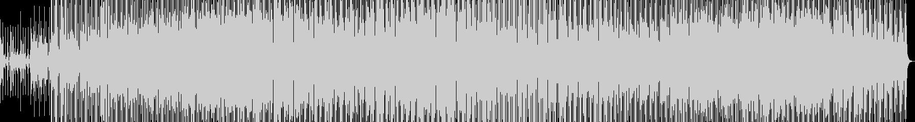 焦燥感に満ちたエレクトロニカの未再生の波形