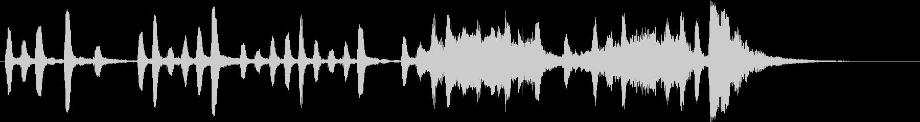 Voice 15 秒ジングルの未再生の波形