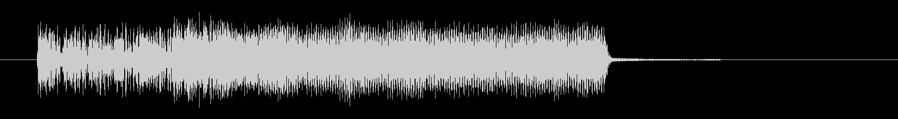 潰れたような音のショートサウンドの未再生の波形