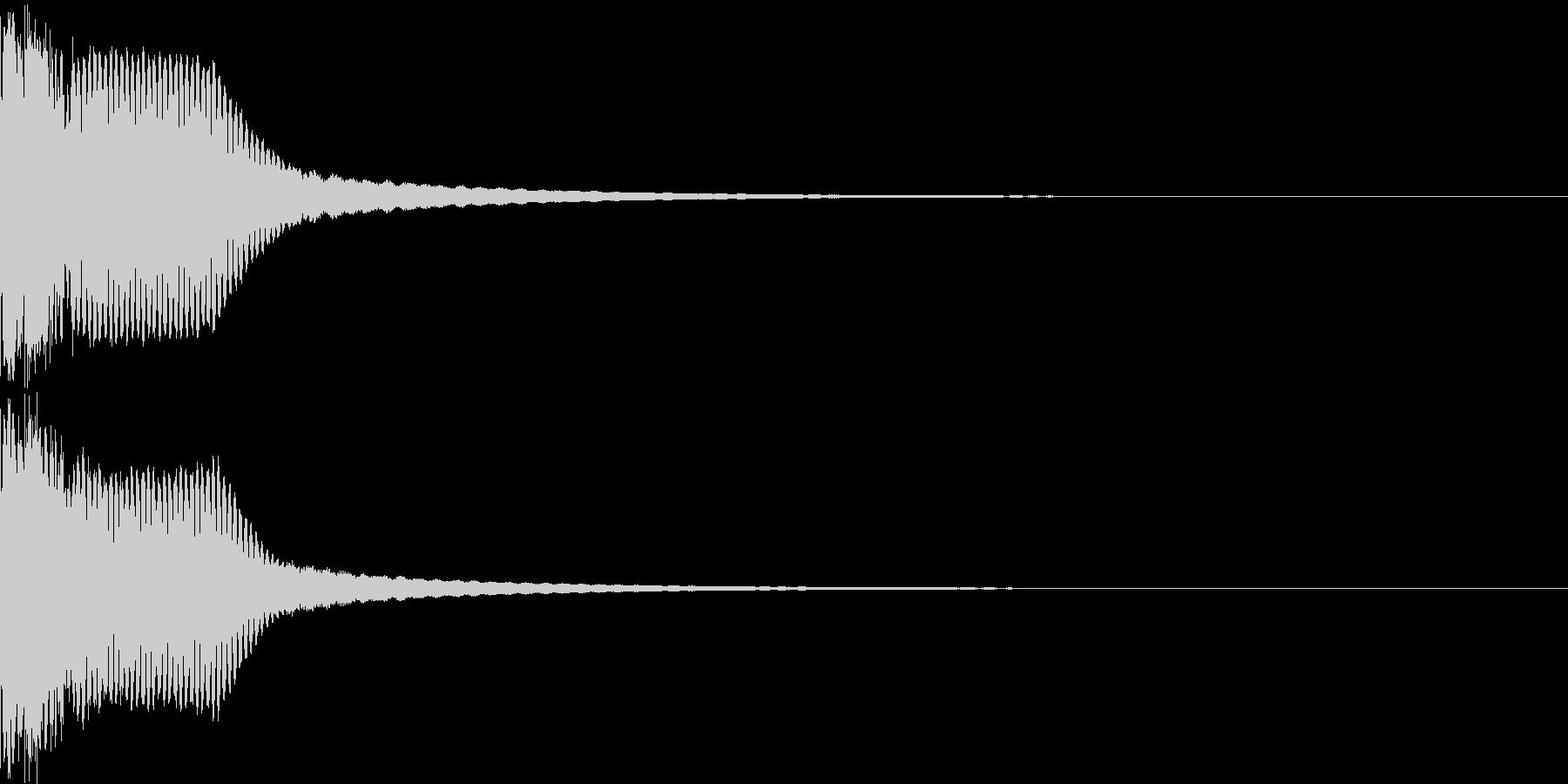 キュイン ボタン ピキーン キーン 29の未再生の波形