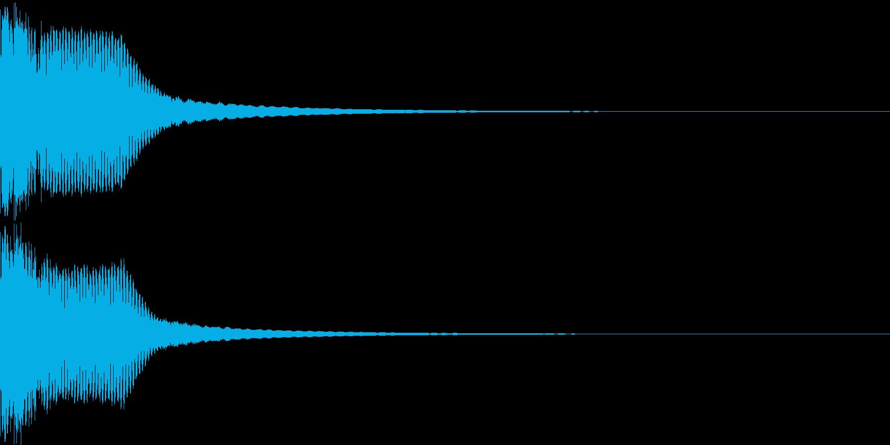 キュイン ボタン ピキーン キーン 29の再生済みの波形
