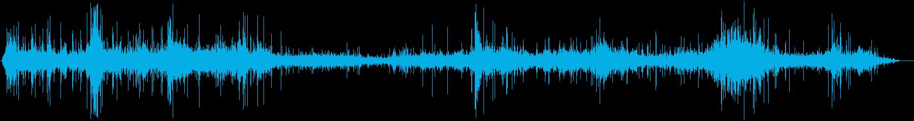 微風でトウモロコシ畑の音の再生済みの波形