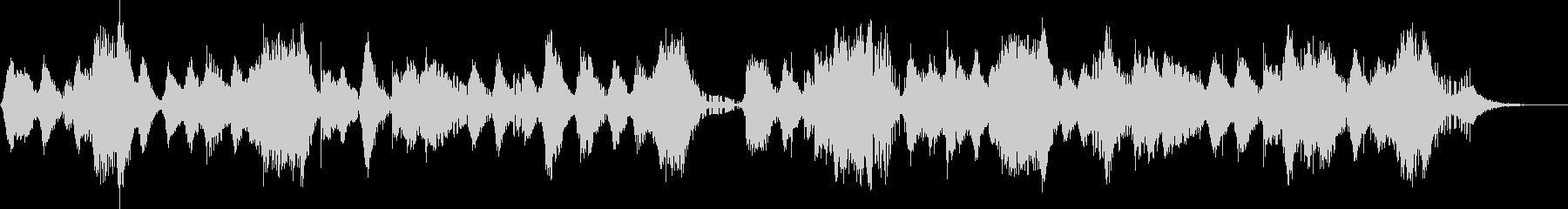 ホラー、不気味な雰囲気のBGMの未再生の波形