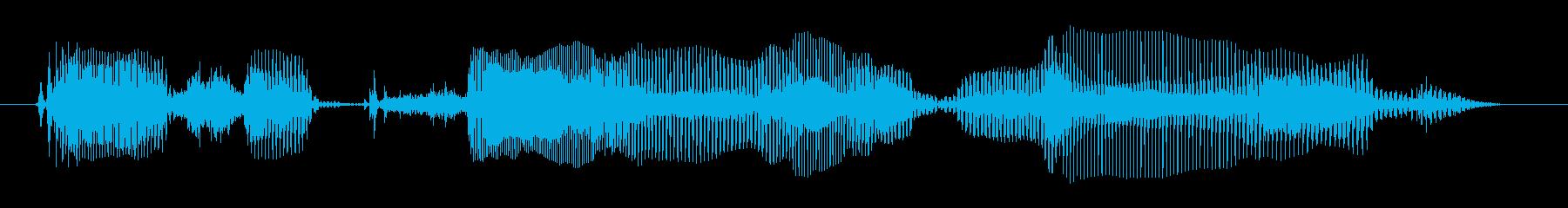 シニア女性A:大声で叫ぶ!の再生済みの波形