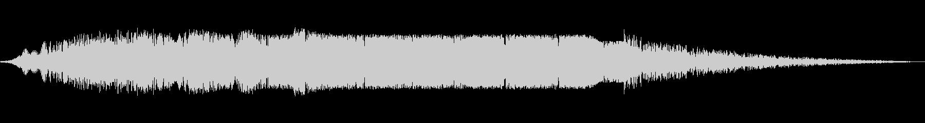 宇宙実験流体のビープ音の未再生の波形