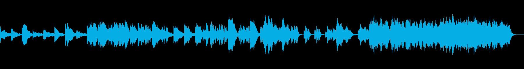 回想シーンに合うバラードの再生済みの波形