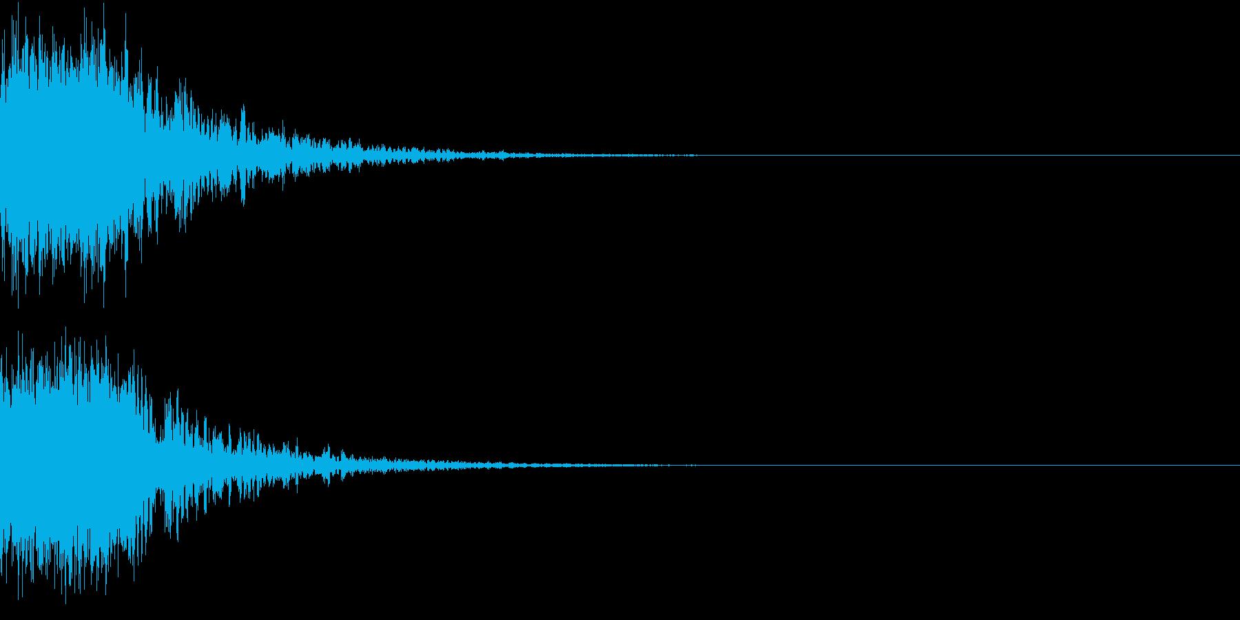 恐竜 怪獣 吠える 衝撃 ホラー 01の再生済みの波形