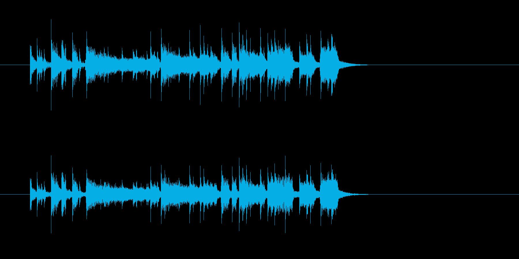 ニュース 報道 スタイリッシュ ベースの再生済みの波形