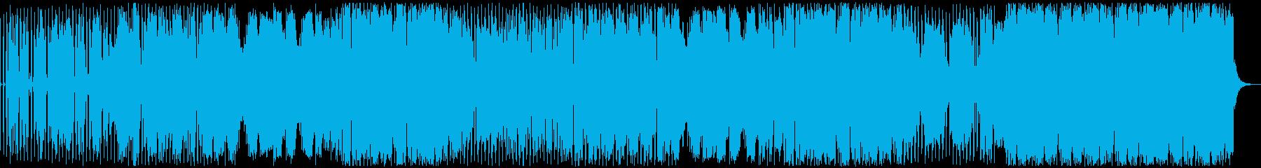 ファンクなシンセ曲の再生済みの波形