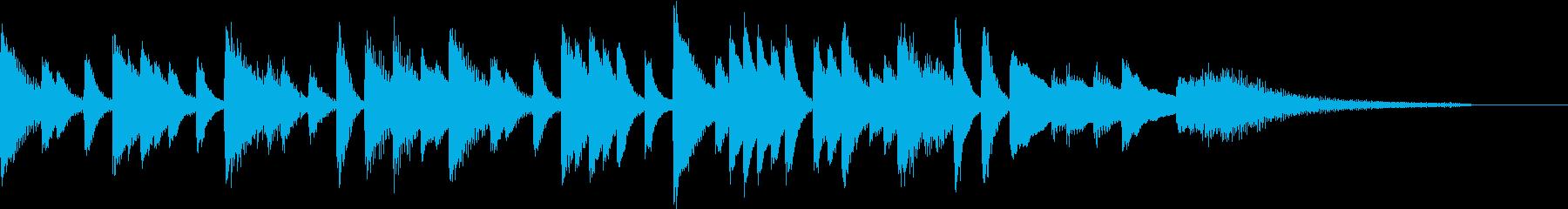 涼しく爽やかに奏でた中華風ピアノジングルの再生済みの波形