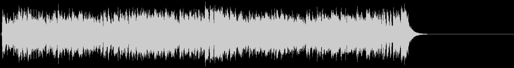 リゾート風の軽快なポップ(サビ~エンド)の未再生の波形