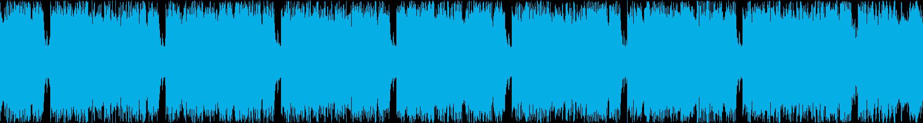 ドロップ(サビ)のみのループバージョンの再生済みの波形