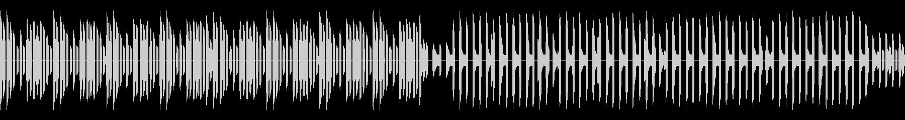 熱血ヒーロー的なレトロゲーム風サビが前の未再生の波形