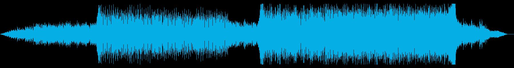 キラキラした幻想的なピアノテクノの再生済みの波形