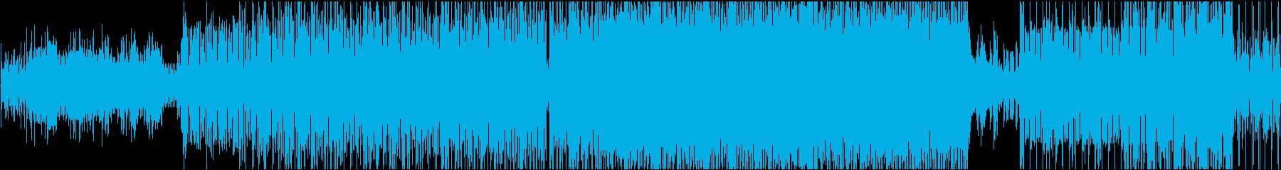 激しくてインパクトのあるメロディーの再生済みの波形