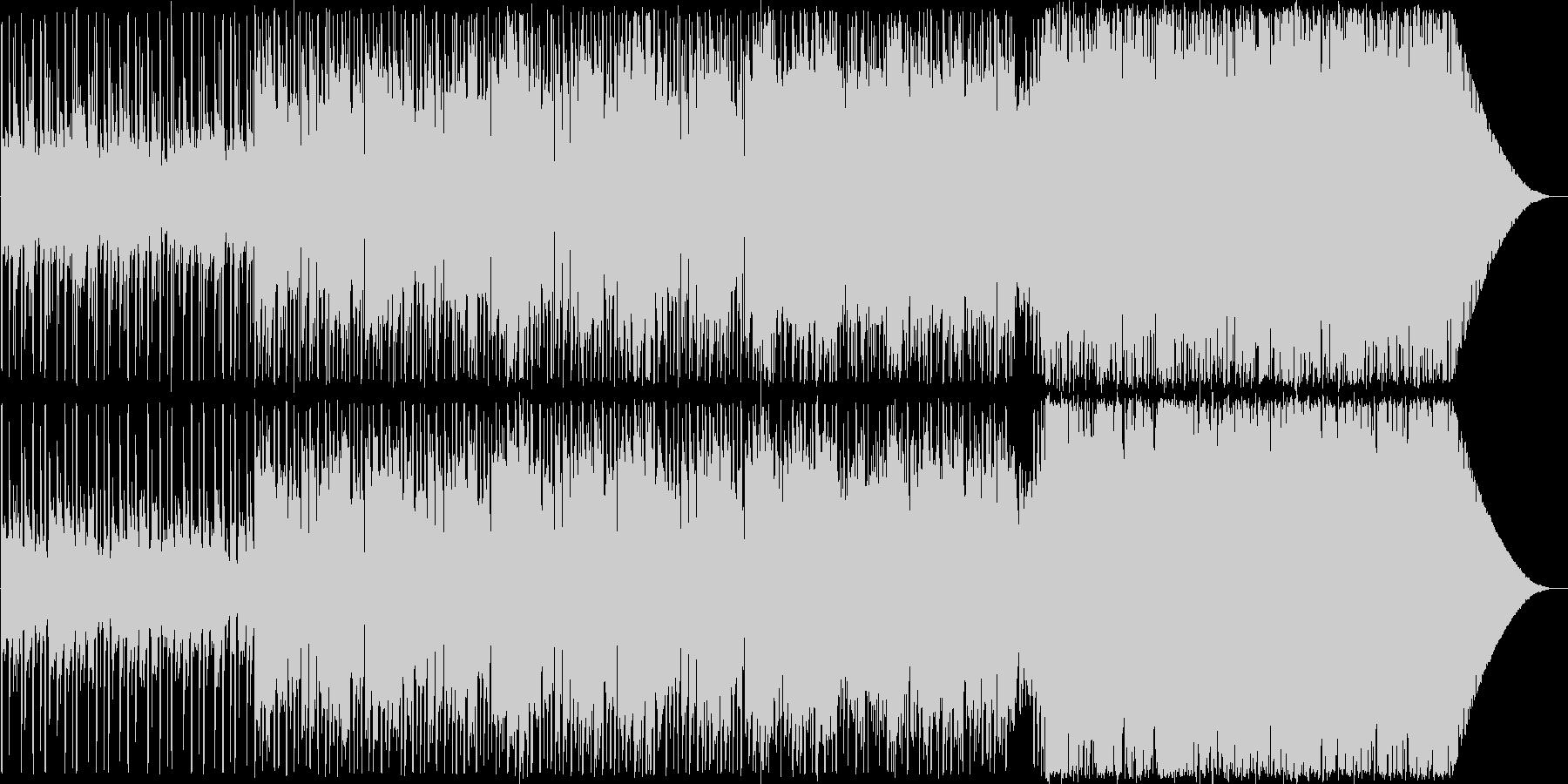 キャッチーなメロディーのポップスの未再生の波形