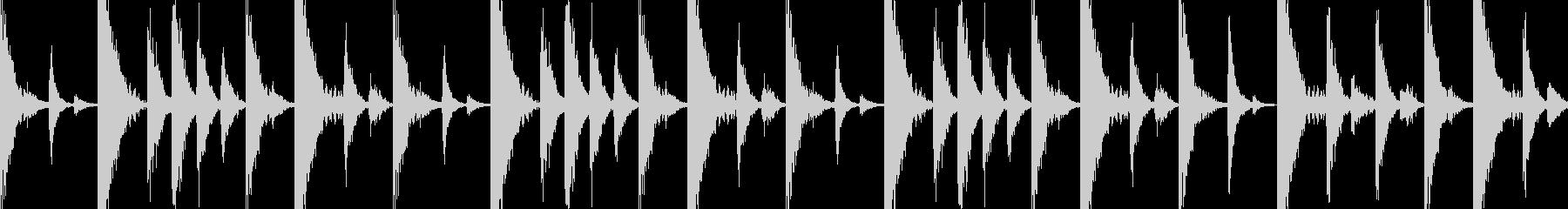 ドラムンベースのリズムループ/パターンの未再生の波形