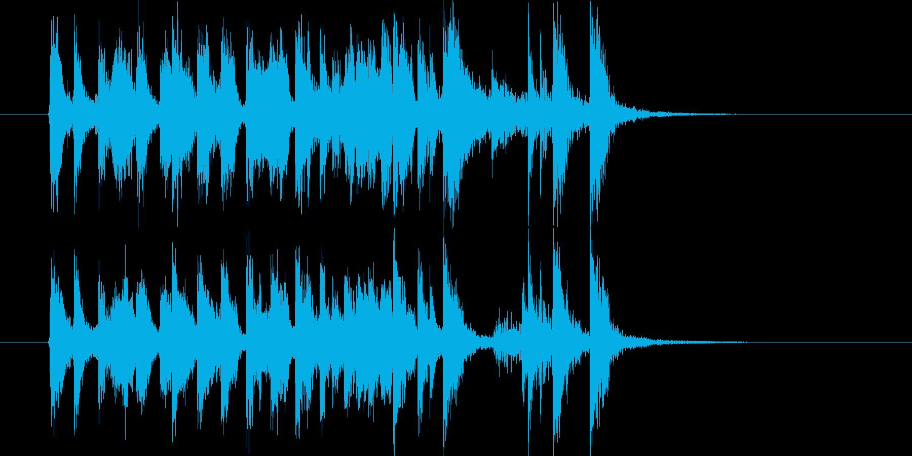 バンドが特徴のポップスのジングル曲の再生済みの波形