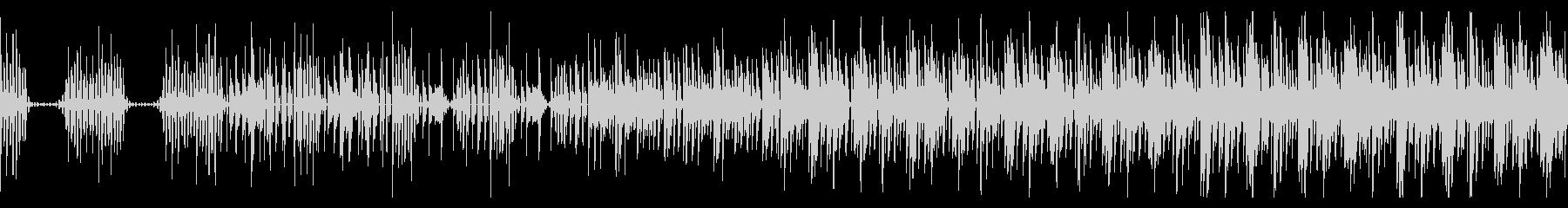 おしゃれでゆったりとしたエレクトロBGMの未再生の波形
