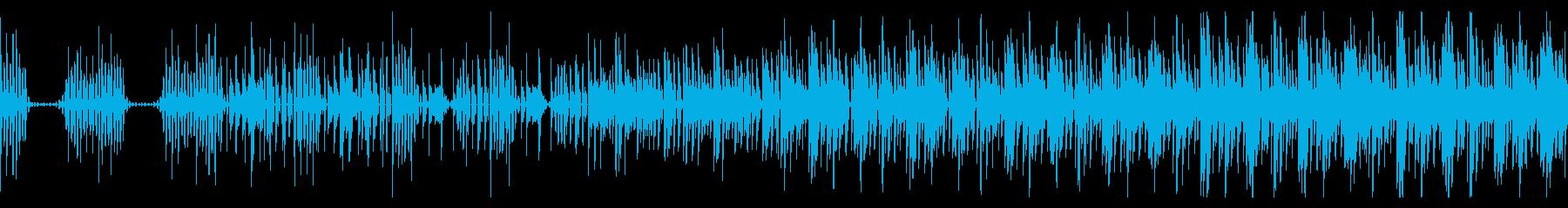 おしゃれでゆったりとしたエレクトロBGMの再生済みの波形