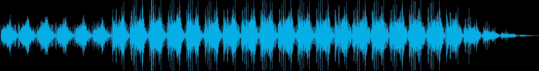 スタイリッシュなインダストリアル音楽の再生済みの波形