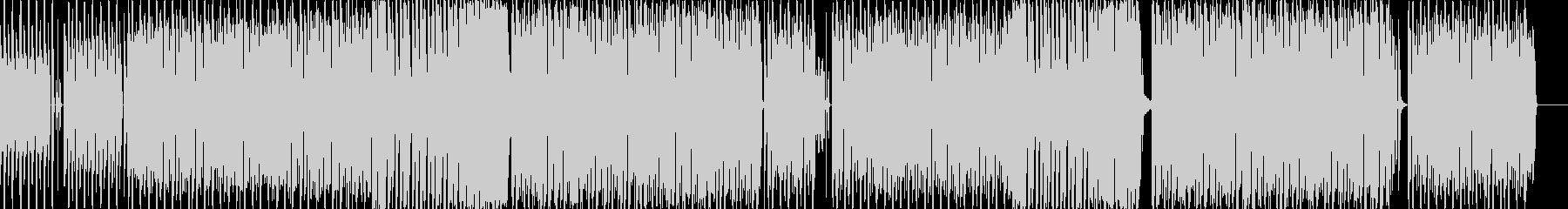 ユニークでコミカルなテクノポップBGMの未再生の波形