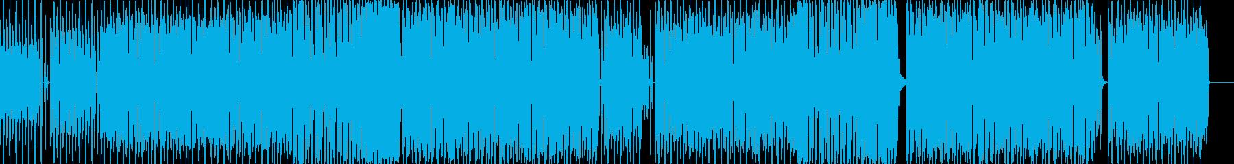 ユニークでコミカルなテクノポップBGMの再生済みの波形