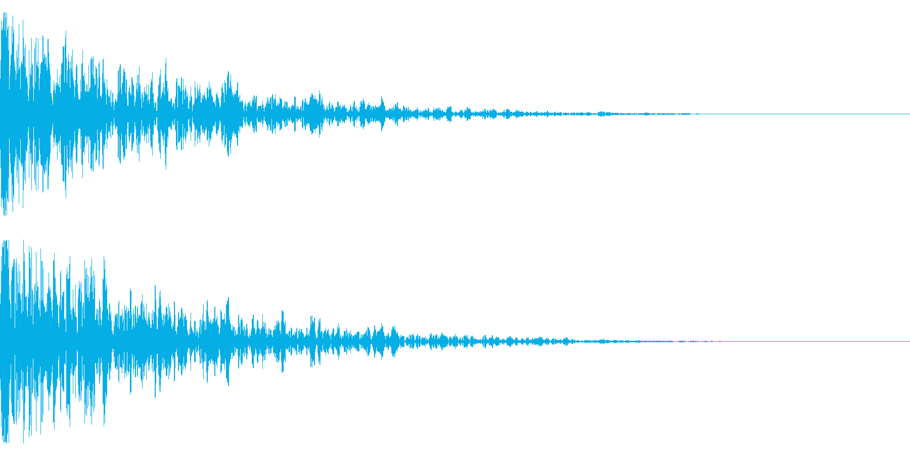 ドーン-13-1(インパクト音)の再生済みの波形