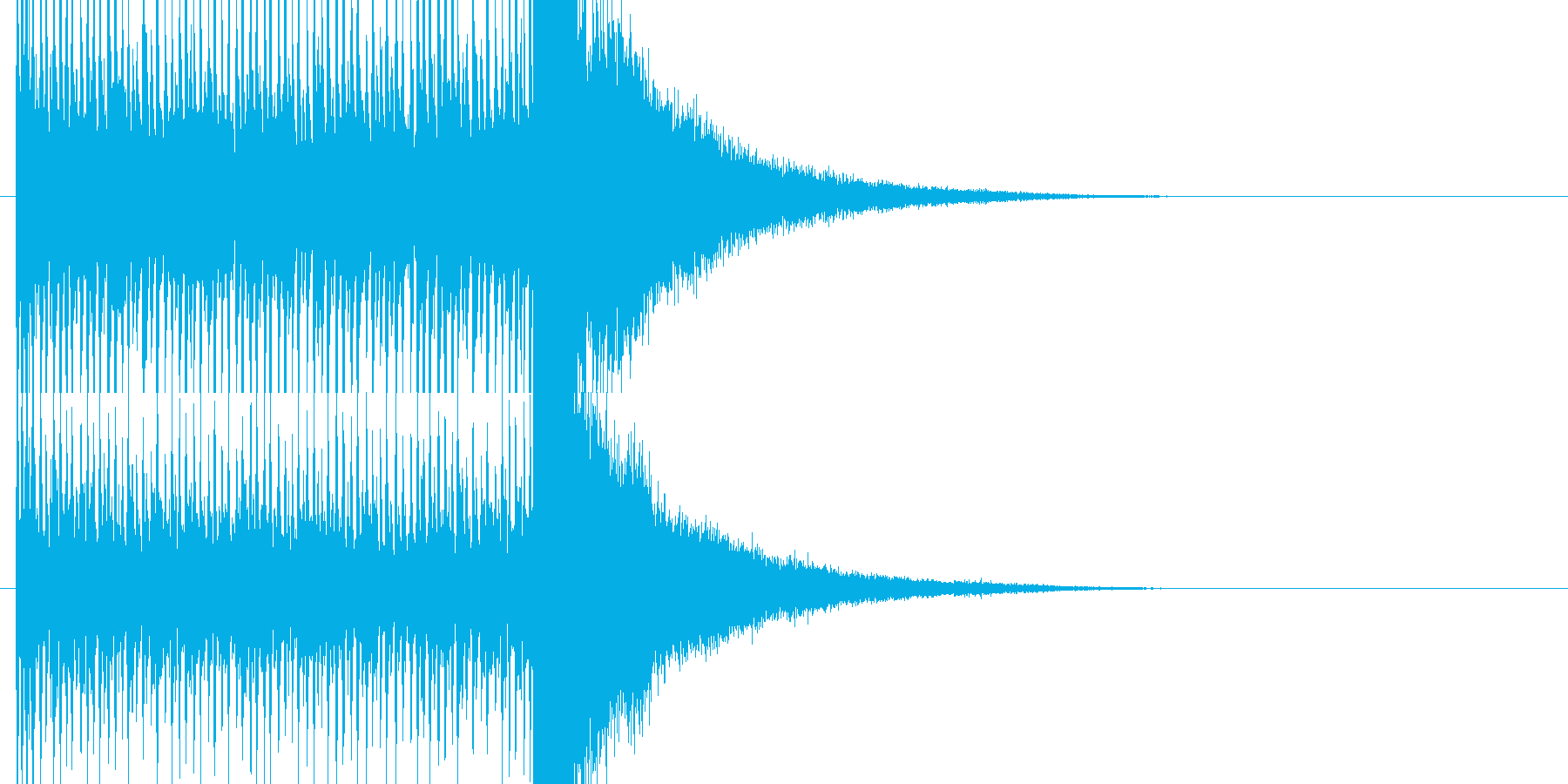 結果発表前の盛り上がるドラムロールの再生済みの波形