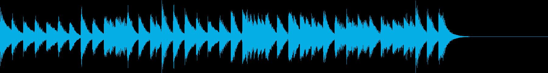 軽やかで可愛らしい中国風ピアノジングルの再生済みの波形