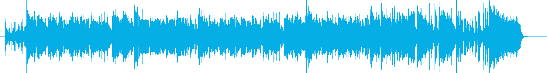 軽快なモダンジャズハードバップshortの再生済みの波形