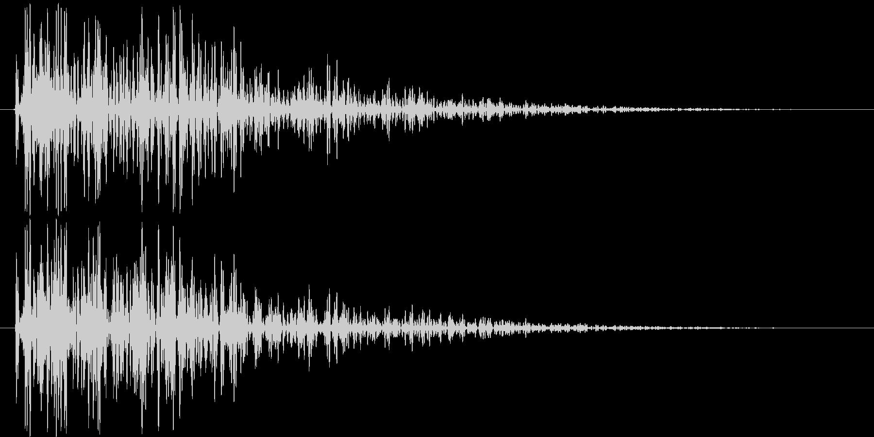 ガンッ(金属系効果音)の未再生の波形