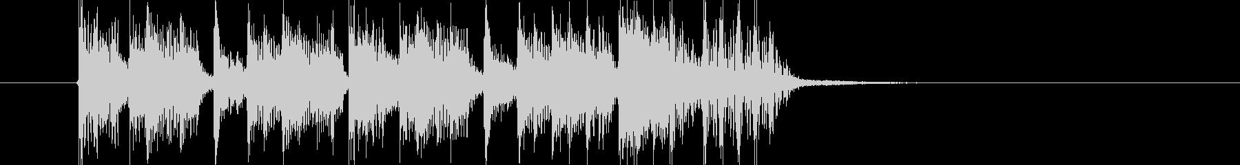 スピーディーでリズミカルなテクノジングルの未再生の波形