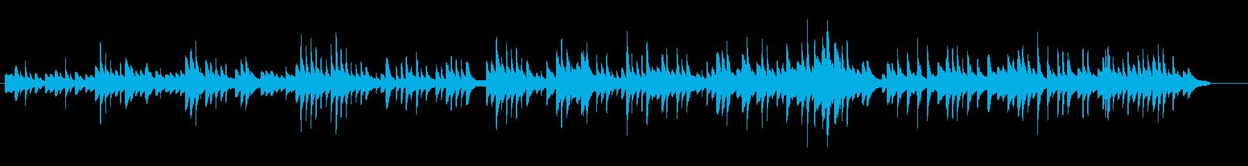 長い長い眠りイメージしたピアノ曲の再生済みの波形