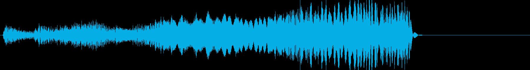 ラジオバーストの再生済みの波形