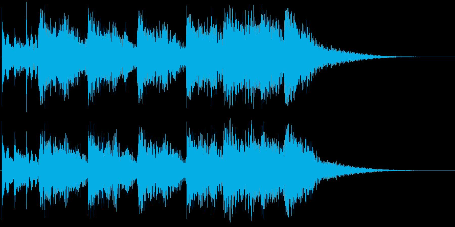 達成感をイメージしたジングルの再生済みの波形