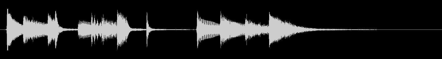 オシャレなアコギのジングルその2の未再生の波形