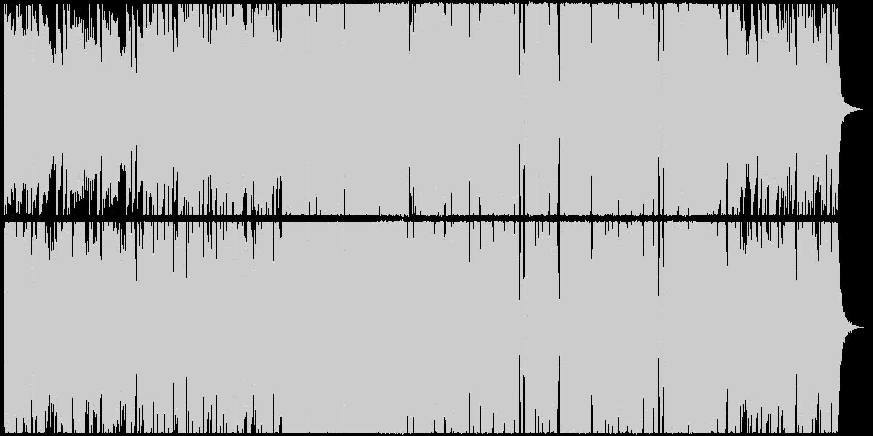 近未来的な重厚感のあるEDMの未再生の波形