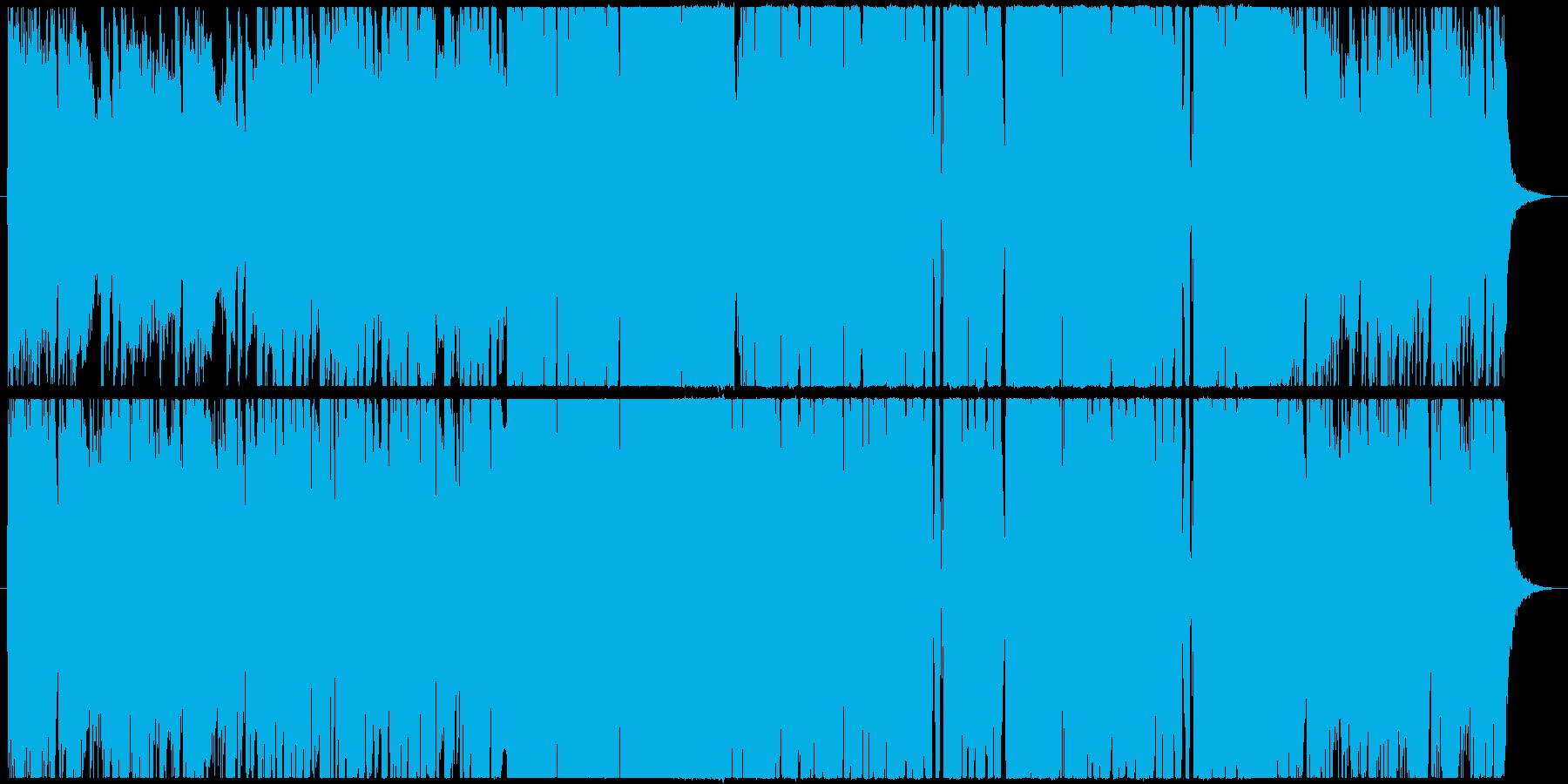 近未来的な重厚感のあるEDMの再生済みの波形