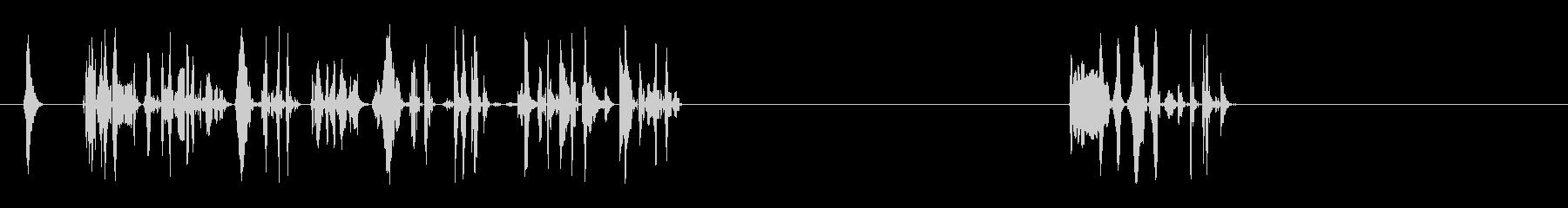 ウォブルトーンシーケンス、コンピュ...の未再生の波形