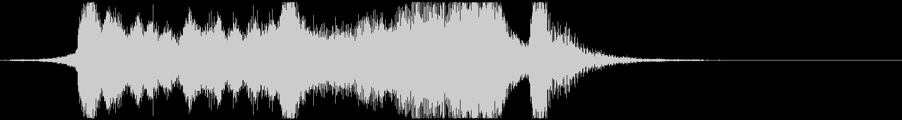 明るく元気なファンファーレの未再生の波形