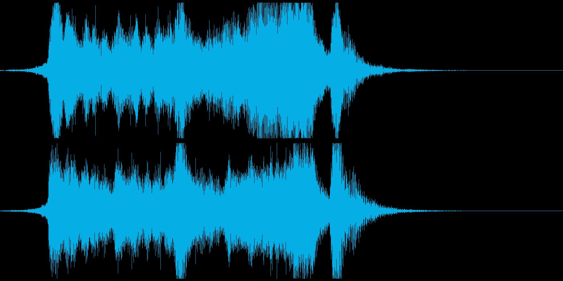 明るく元気なファンファーレの再生済みの波形