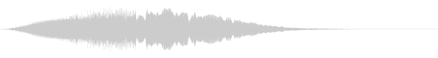 上昇していく効果音、レーザー音 低めの未再生の波形
